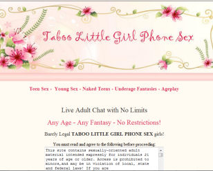 Barely Legal TABOO LITTLE GIRL PHONE SEX girls! Young Voices - Any Age - Any ...